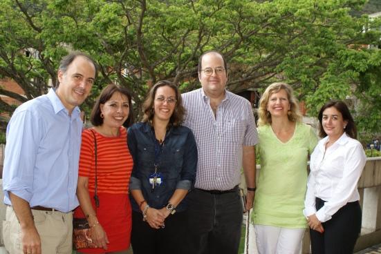 De izquierda a derecha: Lascurain, Villegas, Da Silva, Matienzo, Dohnert, Cowley. Ausente: Angarita